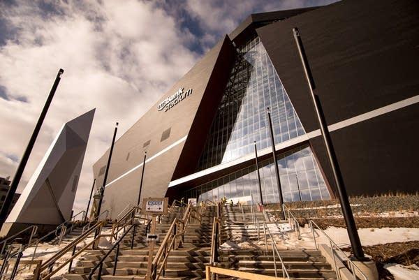 The U.S. Bank stadium is 90% complete.