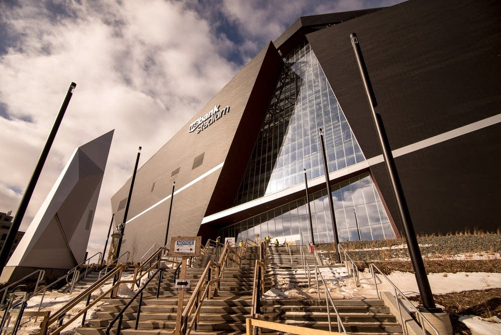 The U.S. Bank stadium is 90 percent complete.