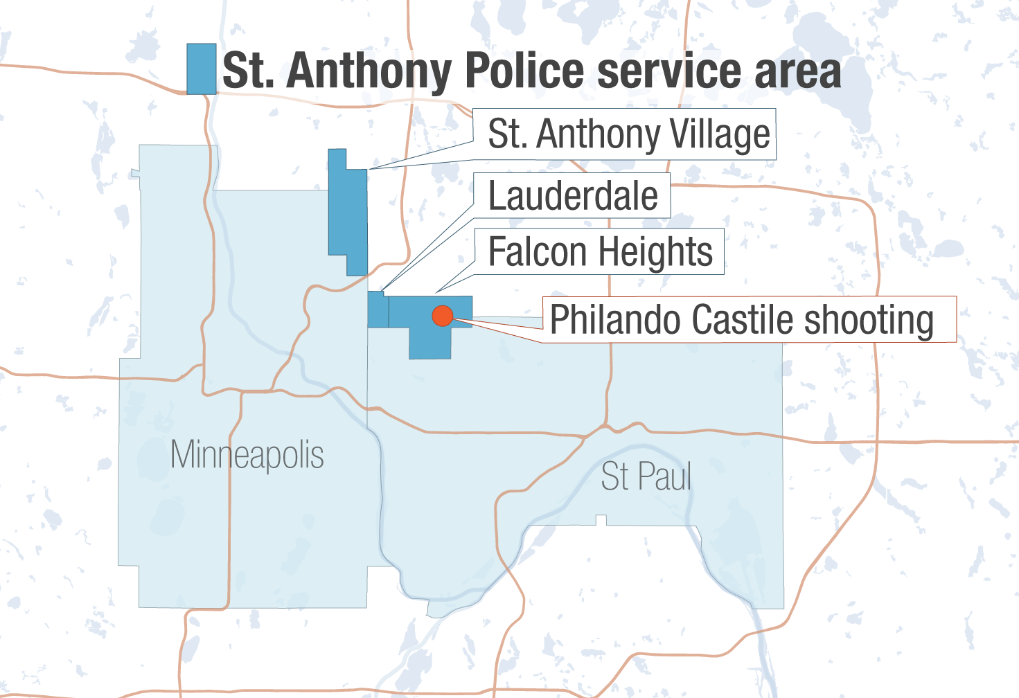 St. Anthony police service area