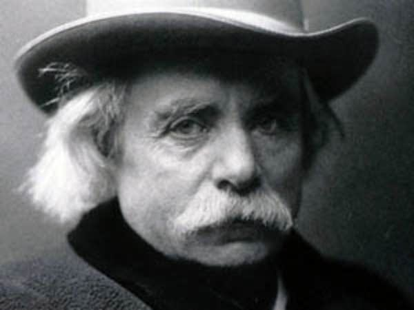 Composer Edvard Grieg in his 60s
