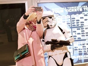 Christine Hoehne gets a selfie with a Stormtrooper