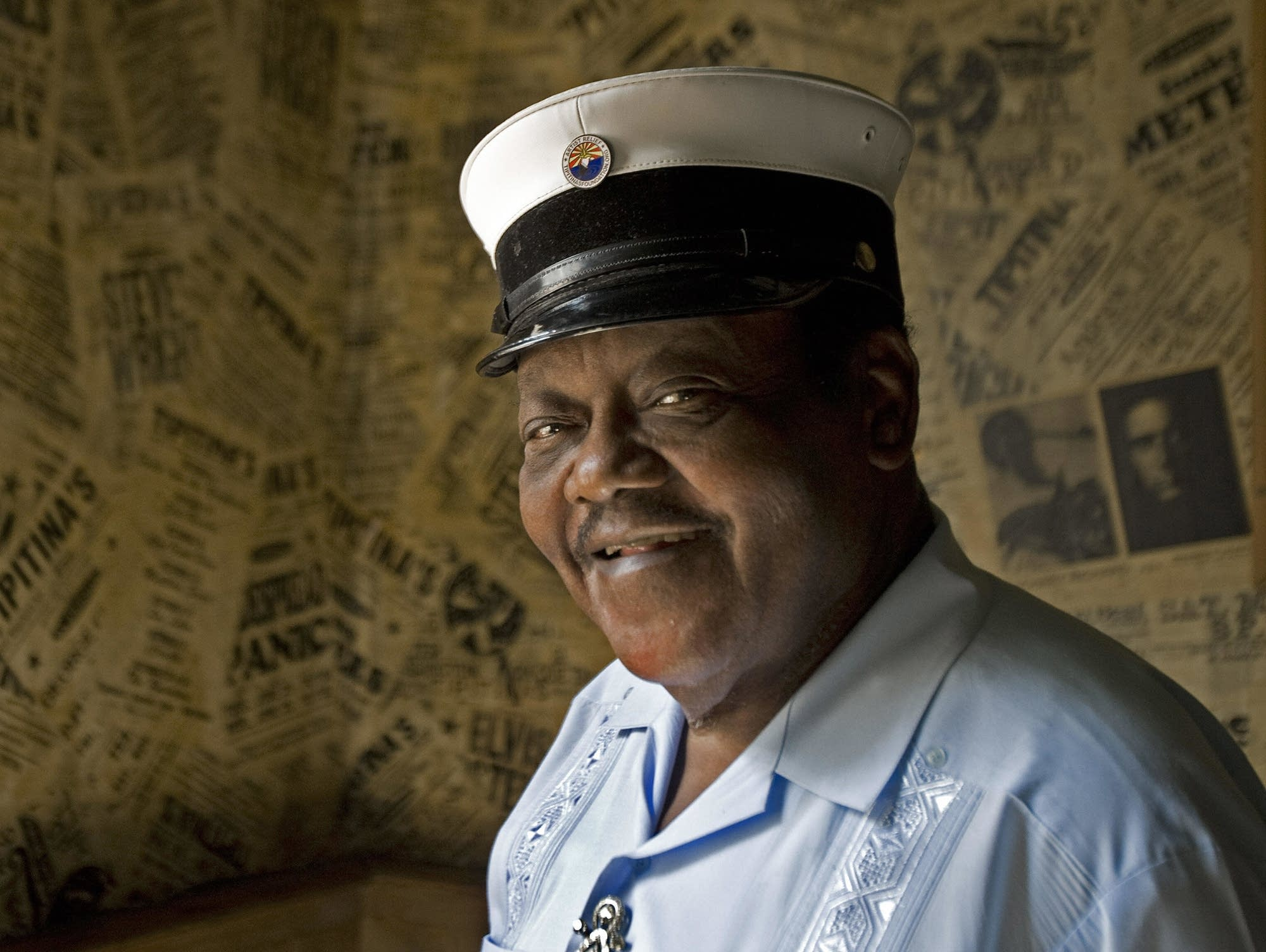 Fats Domino poses for a portrait in 2007.