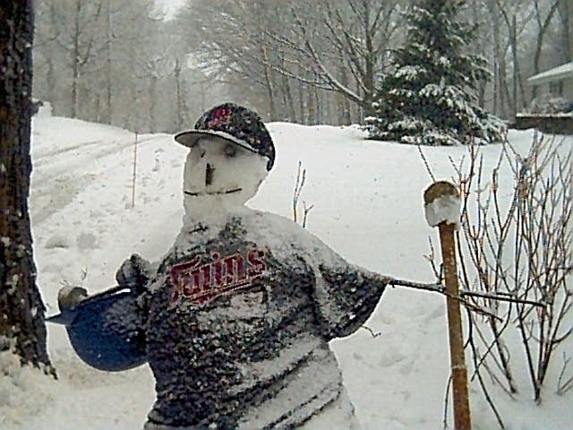 Twins snowman
