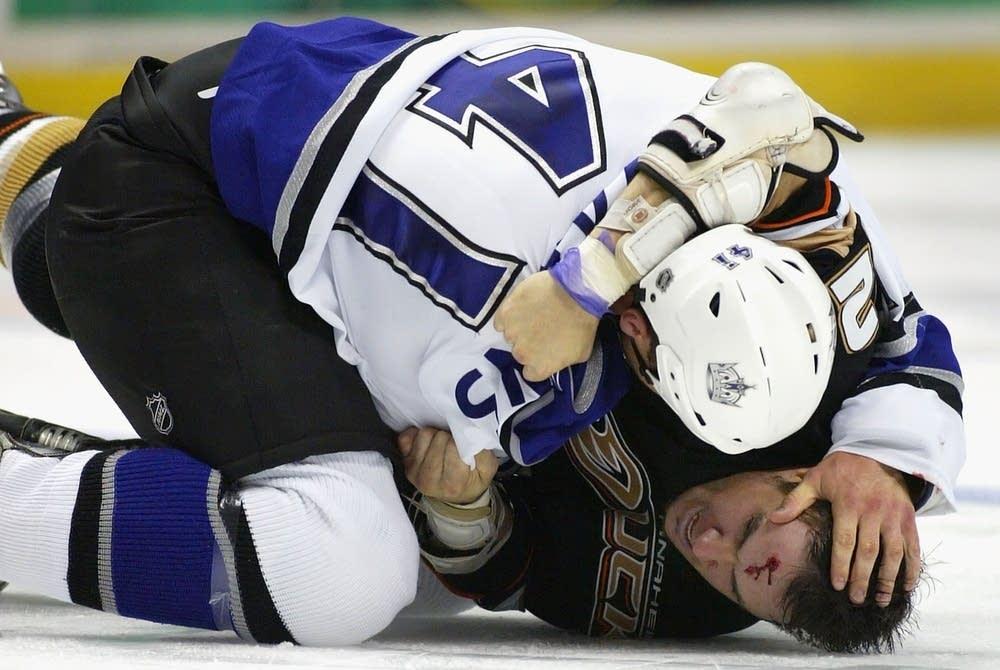 a hockey fight