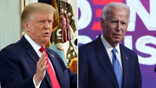 President Donald Trump, left; Democratic presidential nominee Joe Biden
