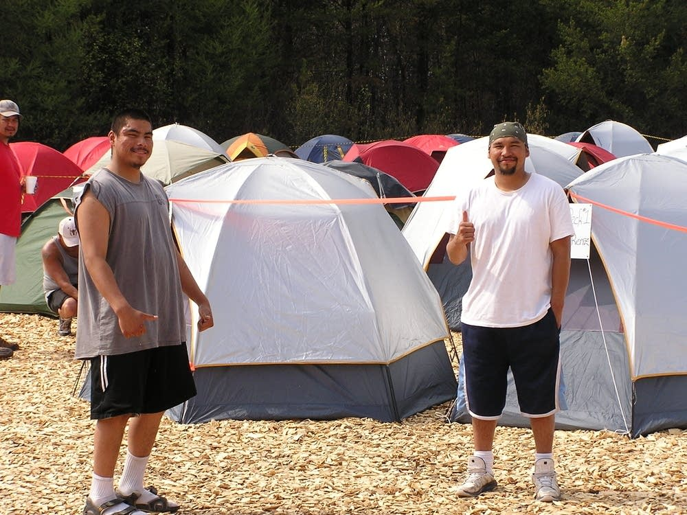 Fire camp tent city
