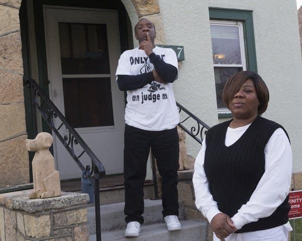Irma Burns and her husband Johnie Johnson