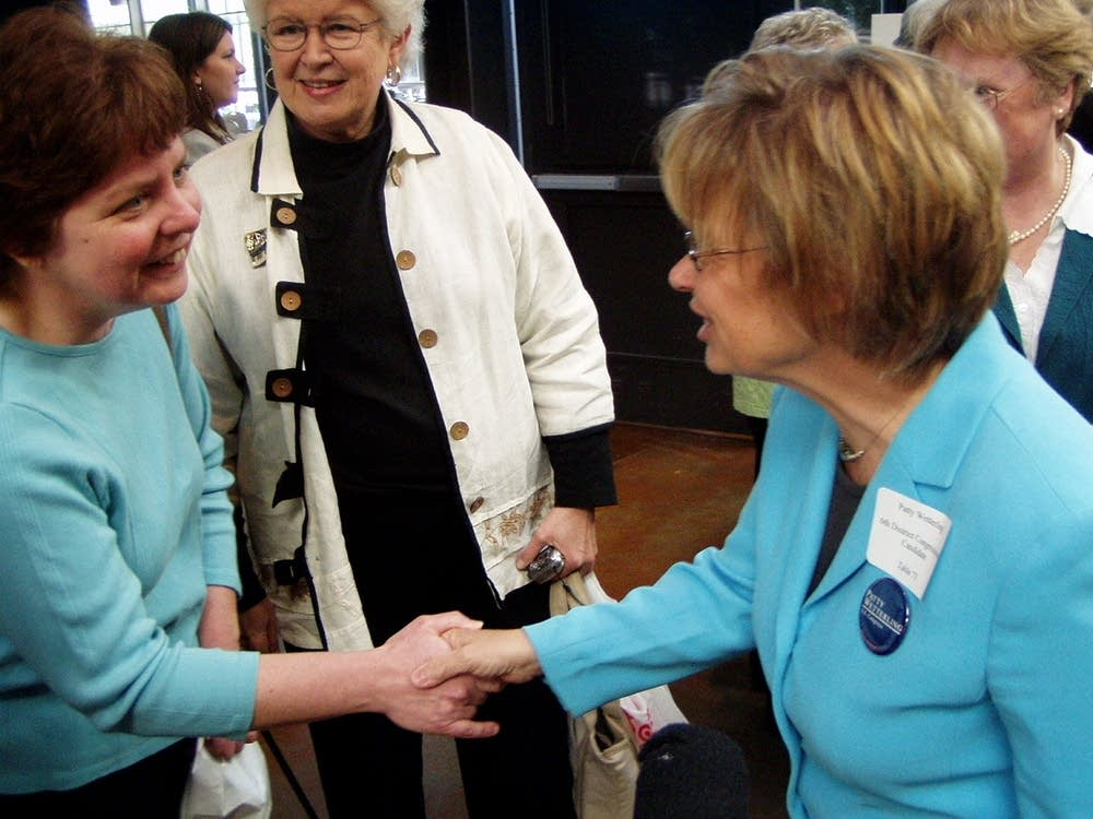 Patty Wetterling greets supporters
