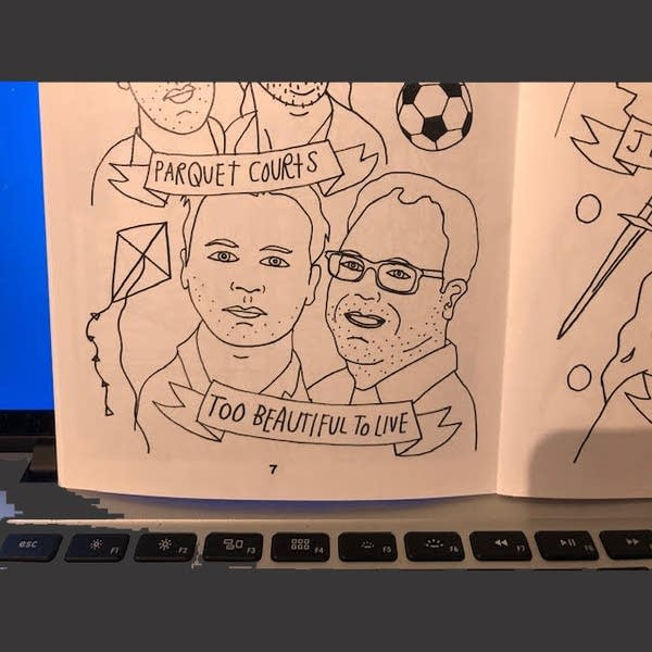 Luke and Andrew featured in the THING Festival coloring book