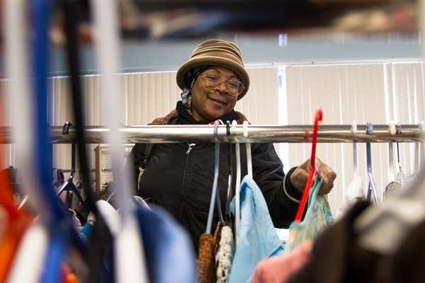 Shopper Diana Webster at Joseph's Coat