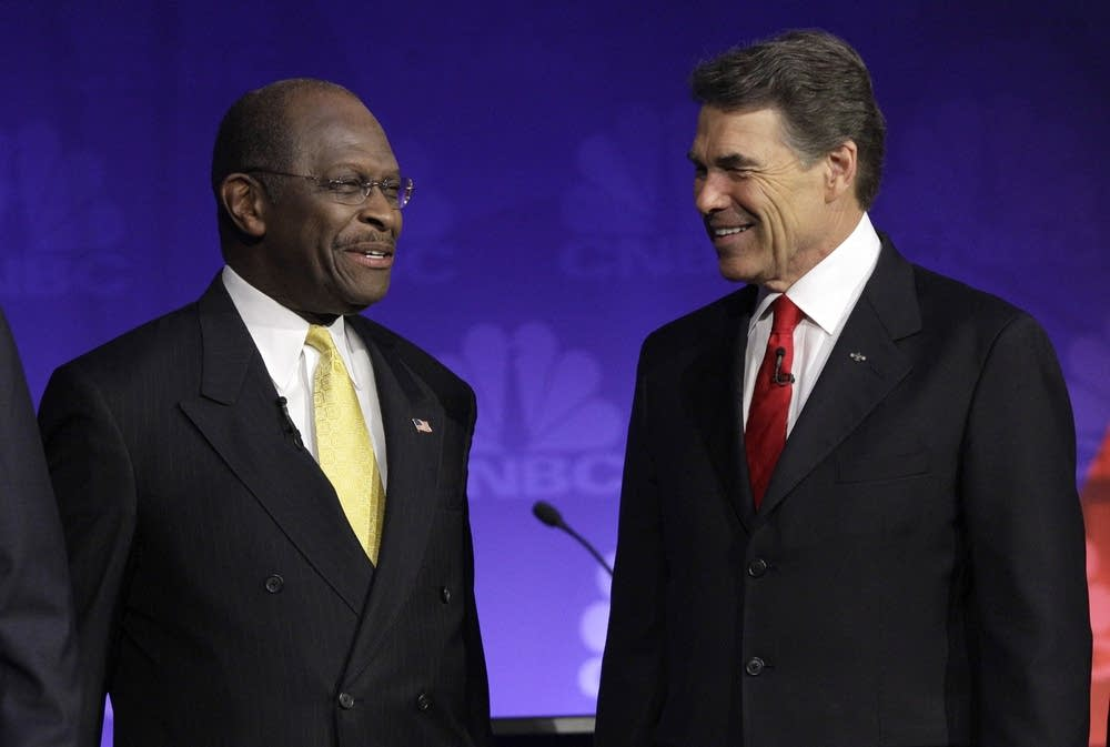 Herman Cain, Rick Perry