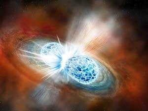 The collision of two neutron stars.