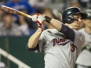 Justin Morneau of the Minnesota Twins bats.