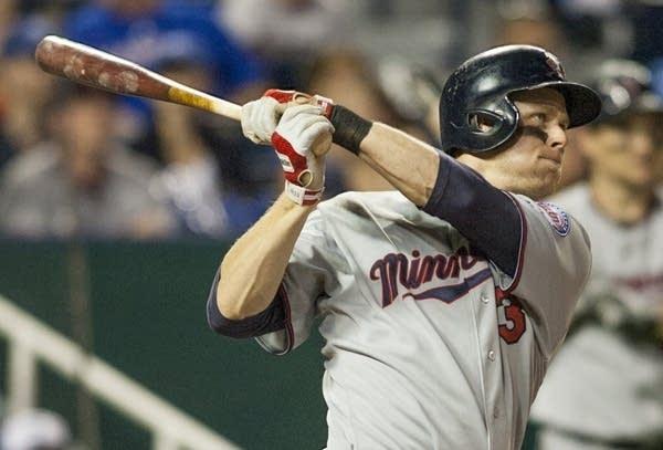 Justin Morneau of the Minnesota Twins bats.