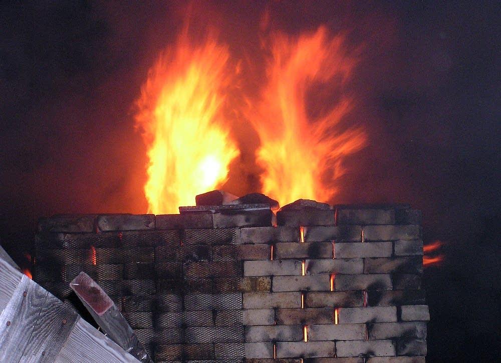 Kiln flames