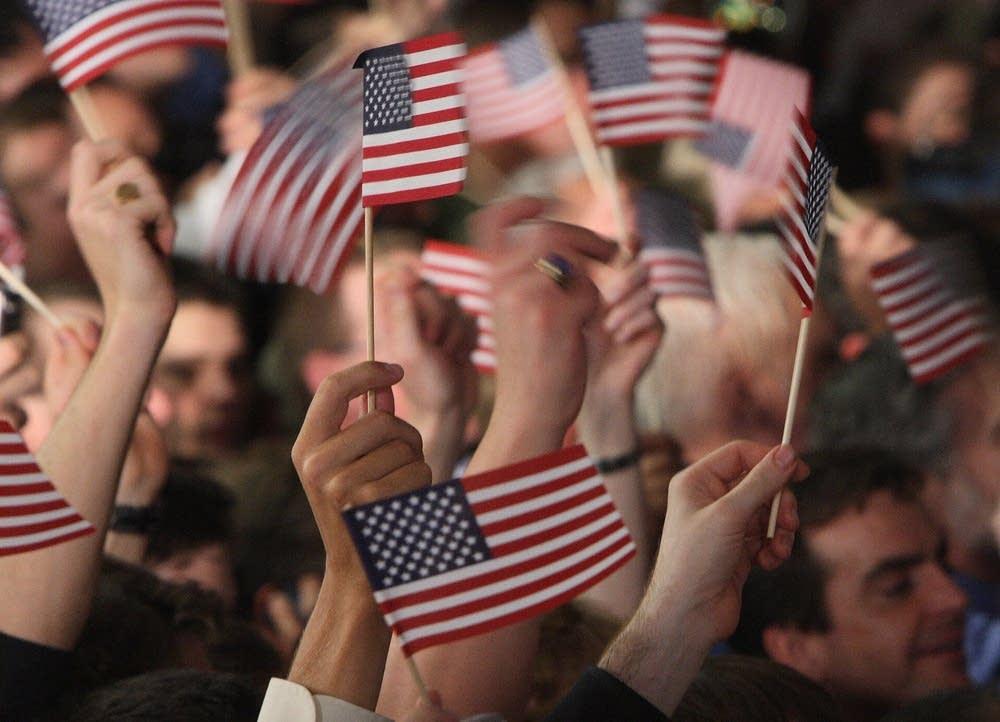 Flag-waving