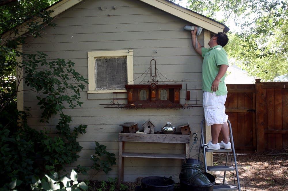 Testing garage paint
