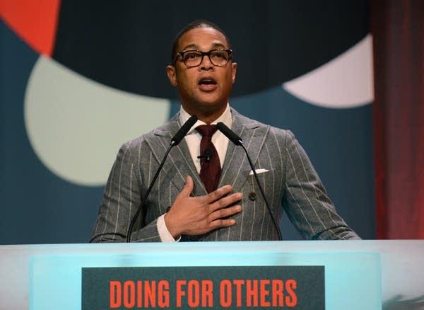 Don Lemon speaks at the MLK holiday breakfast.