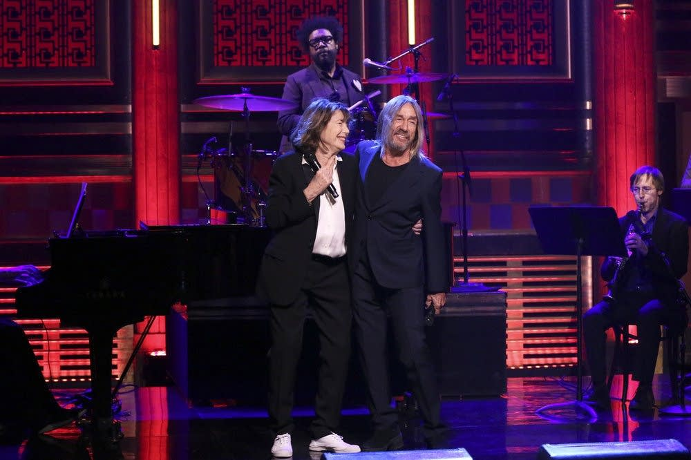 Jane Birkin and Iggy Pop perform on 'The Tonight Show'