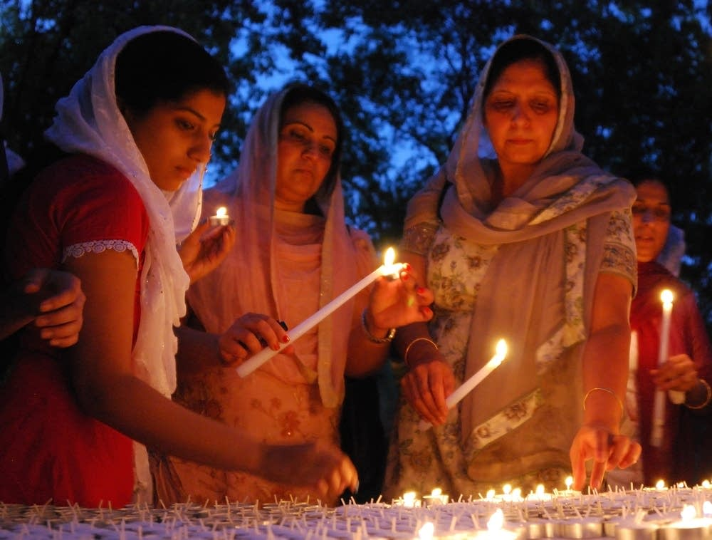 Sikh candle-light vigil