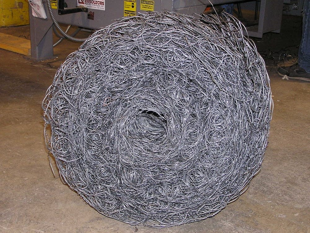 A bale of bed springs
