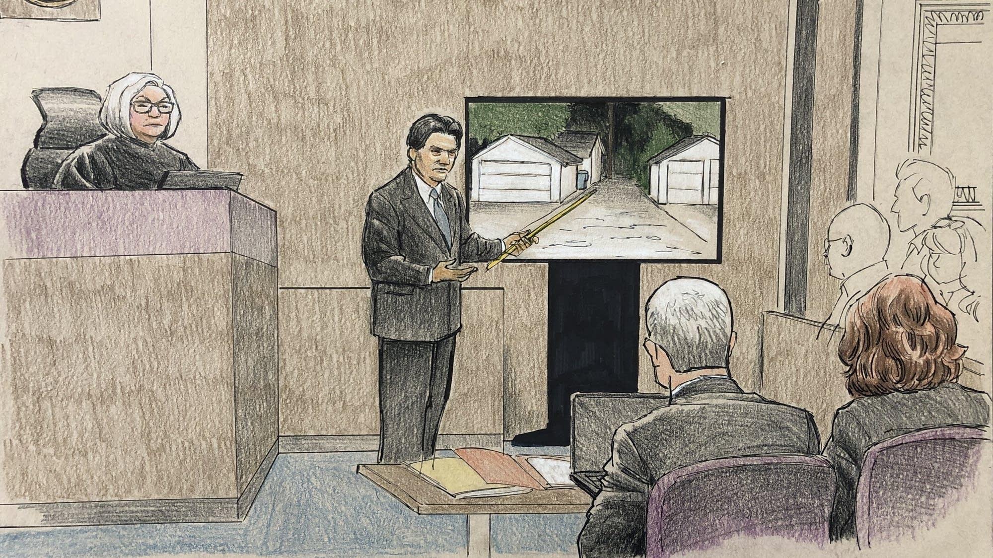 Investigator Adam Castilleja at the Noor trial on April 10.