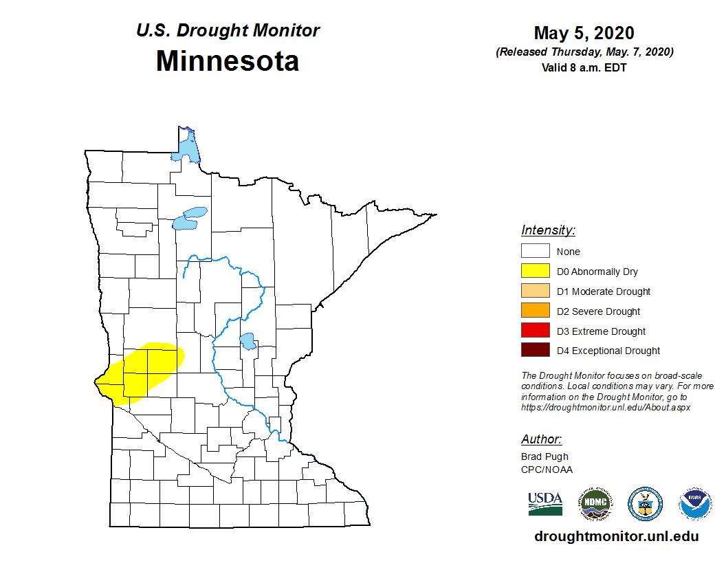 Drought Monitor for Minnesota