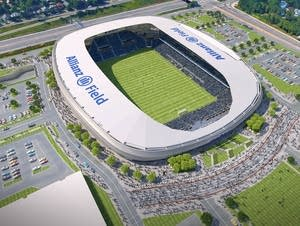 Rendering of Minnesota United's new stadium, Allianz Field.