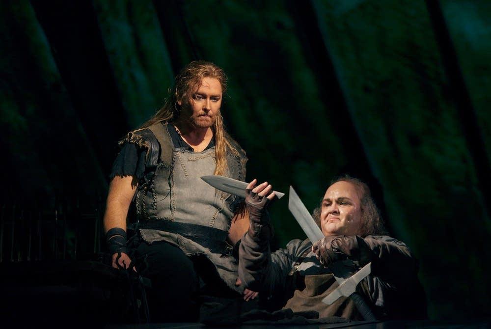 Morris as Siegfried and Siegel as Mime