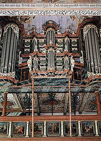 1688 Schnitger organ at Saint Pankratius Church, Neuenfelde, Germany