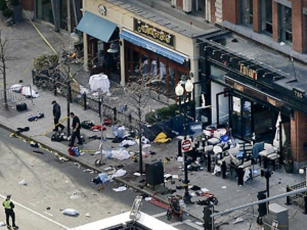 One of the blast sites on Boylston Street