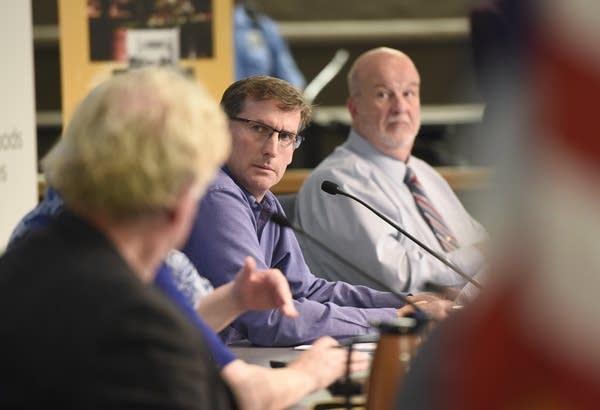 St. Cloud City Council members Jeff Johnson, left, and Jeff Goerger.