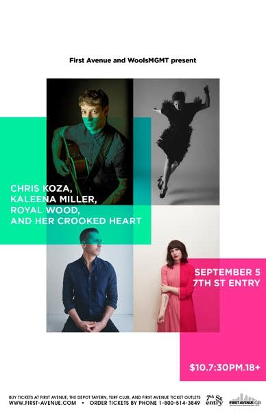Chris Koza, Kaleena Miller, Royal Wood, Her Crooked Heart
