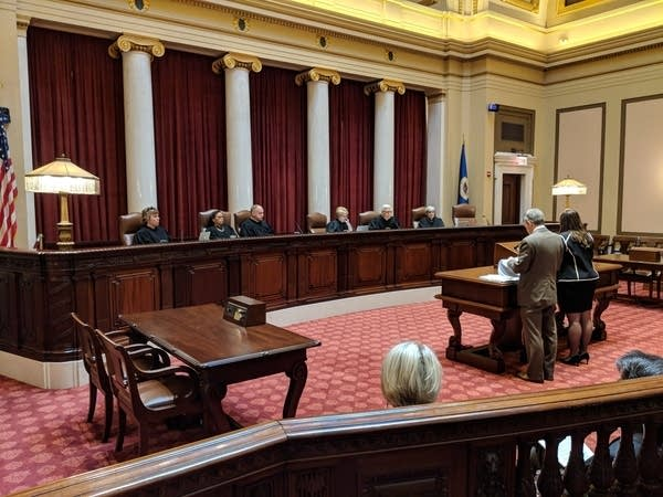 Minnesota Supreme court hearing on cameras in courts.