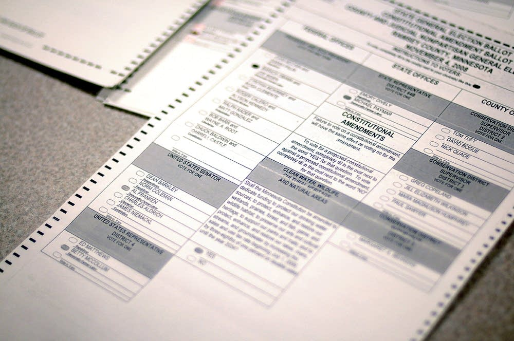 A challenged ballot by the Coleman campaign