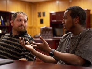 Abdulahi Farah speaks with Zavier Bicott.