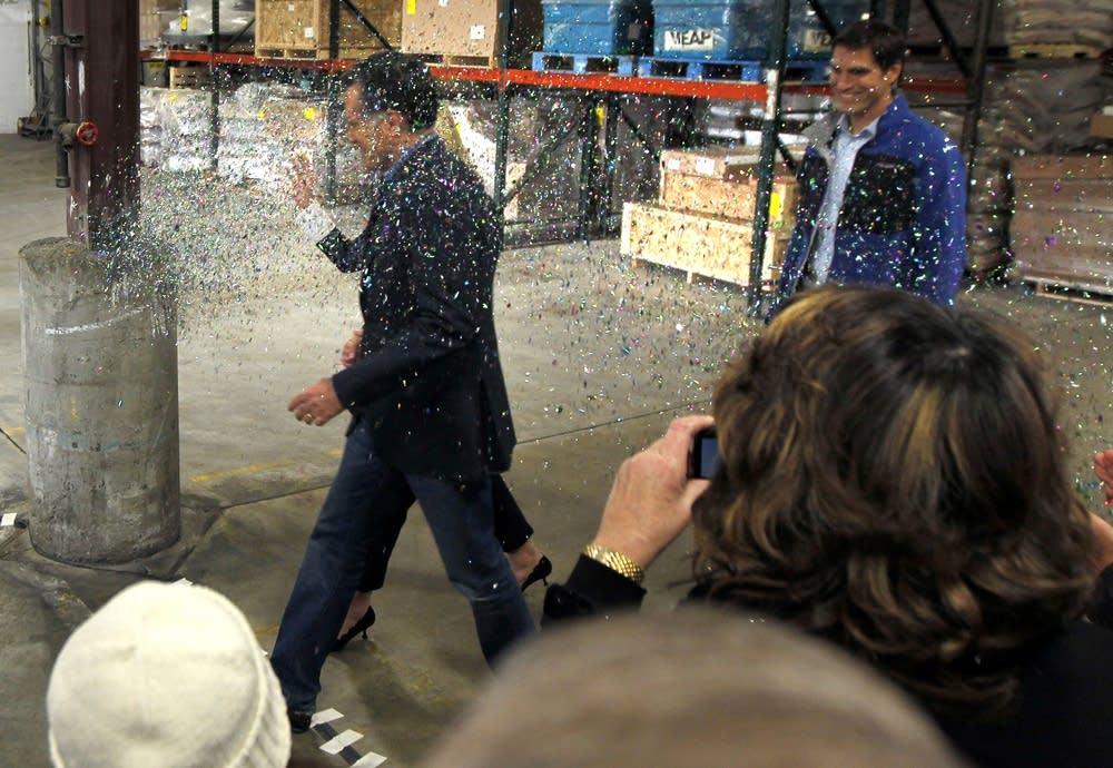 Mitt Romney glitterbomb