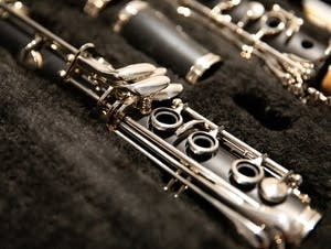 Clarinet in its case.