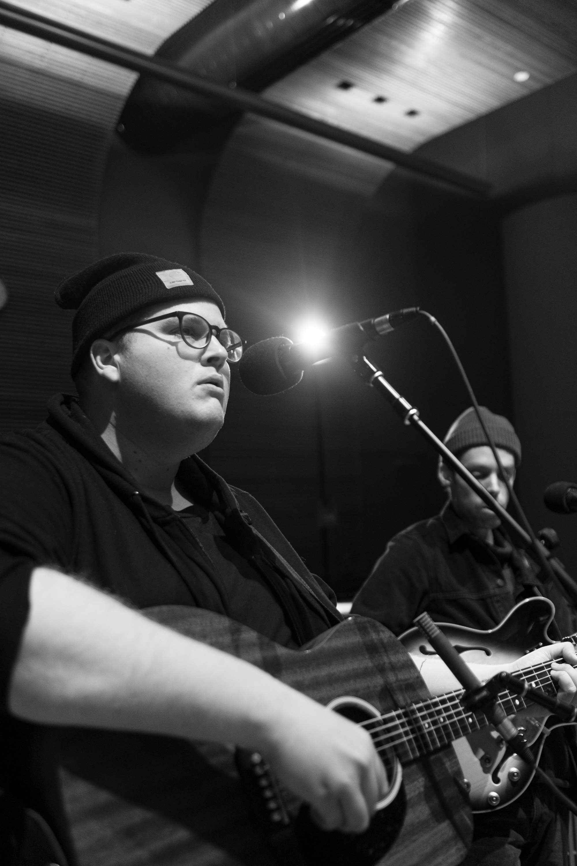 Michigander perform in The Current studio