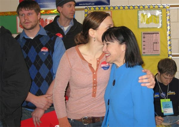 Bonoff with supporter