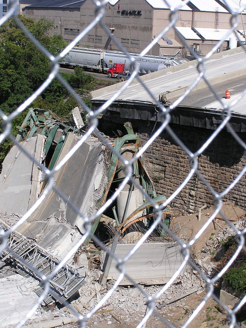 Fallen bridge