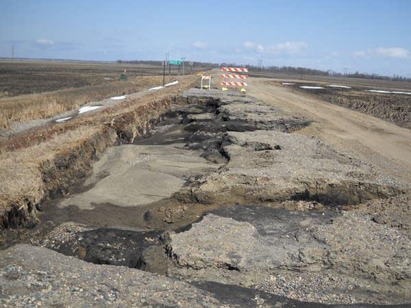 County road damage