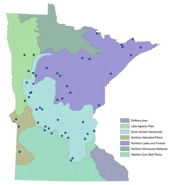 Map: Tested lake