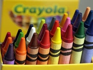 A 24-count box of Crayola crayons