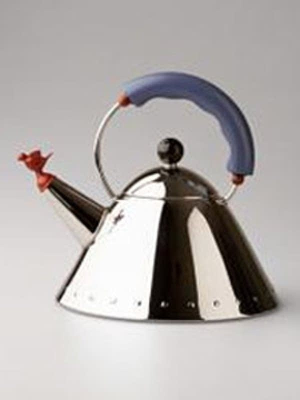Graves' higher-priced Alessi tea kettle