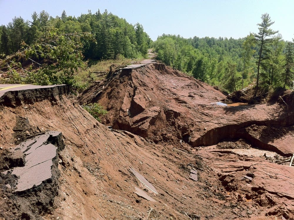Highway 210 washed out