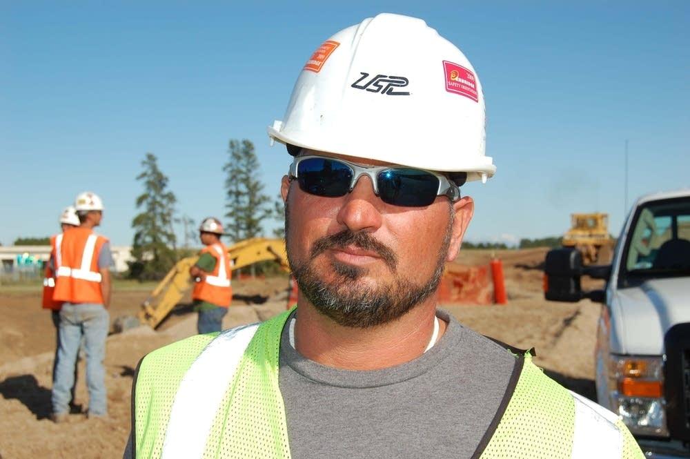 Construction foreman Roger Martin