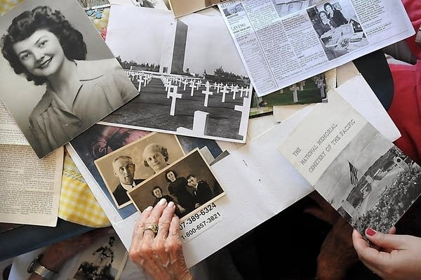 Letters, photos from WWII