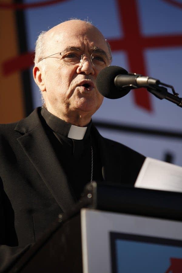Archbishop Carlo Maria Vigano, apostolic nuncio