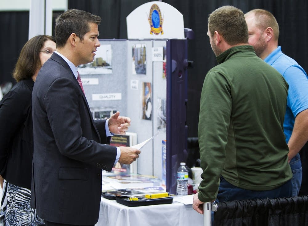 Rep. Sean Duffy at the jobs fair